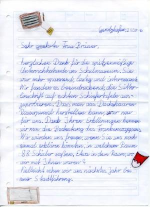 Lehrerin an dankeschön brief Dankeschön brief